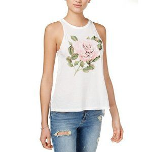 NWT Carbon Copy Embroidered Rose Print Tank Top
